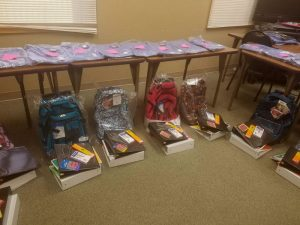 Nursing Students Backpacks Donated