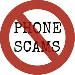 Phone Scams Circle with line through it